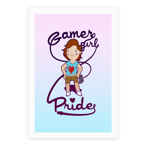 Gamer Girl Pride Poster