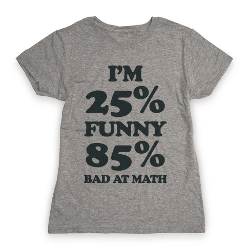 Funny/Math Ratio  Womens T-Shirt