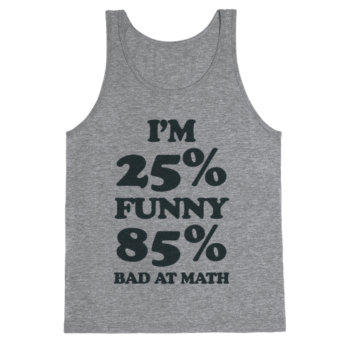 Funny/Math Ratio  Tank Top