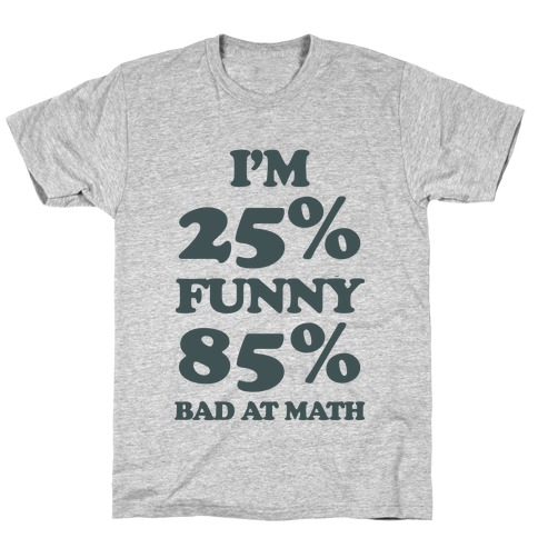 Funny/Math Ratio  Mens T-Shirt