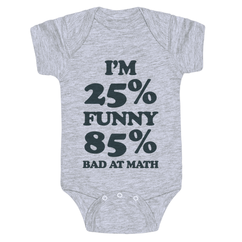 Funny/Math Ratio  Baby Onesy