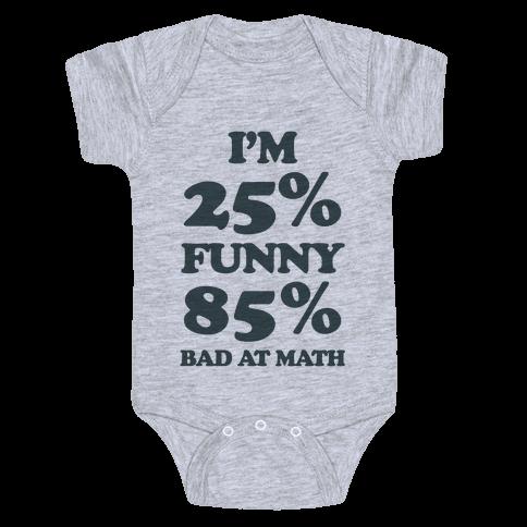 Funny/Math Ratio  Baby Onesy
