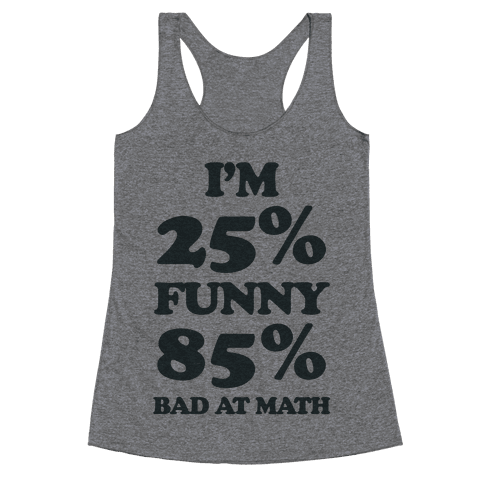 Funny/Math Ratio  Racerback Tank Top