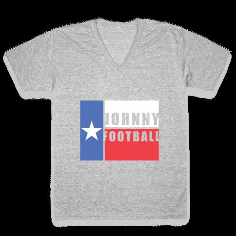Texas Johnny Football V-Neck Tee Shirt