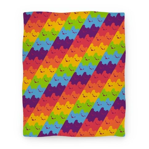 Rainbow Cats Blanket
