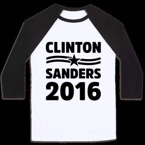Clinton Sanders 2016 Baseball Tee
