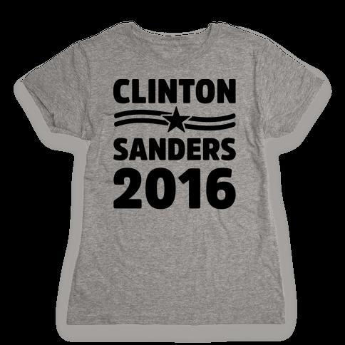 Clinton Sanders 2016 Womens T-Shirt