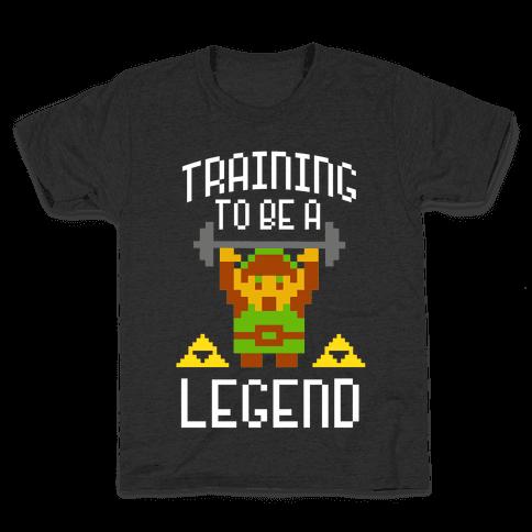 Training To Be A Legend Kids T-Shirt