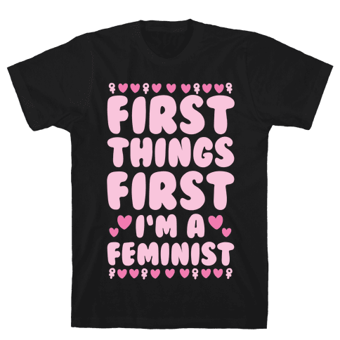 Fancy Feminist Mens T-Shirt
