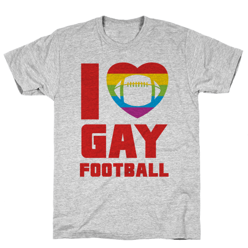 I Love Gay Football Mens T-Shirt