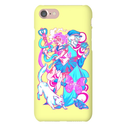 Rainbow Horror Senshi Parody Phone Case