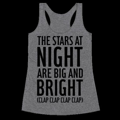 The Stars At Night Racerback Tank Top