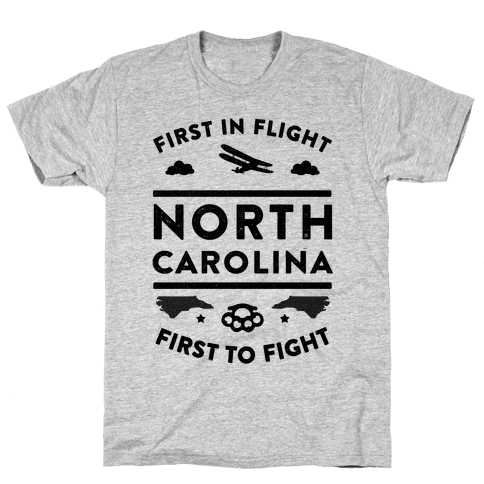North Carolina Fight and Flight Mens T-Shirt