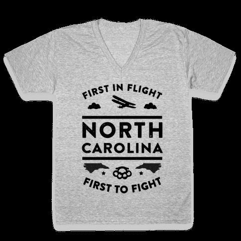 North Carolina Fight and Flight V-Neck Tee Shirt
