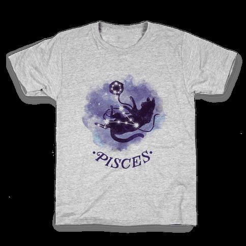 Cat Zodiac: Pisces Kids T-Shirt