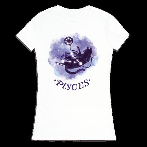 Cat Zodiac: Pisces Womens T-Shirt