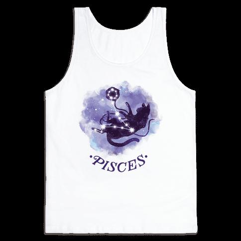 Cat Zodiac: Pisces Tank Top