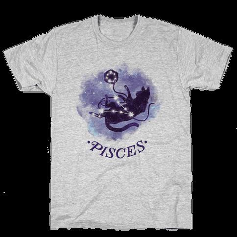 Cat Zodiac: Pisces Mens T-Shirt