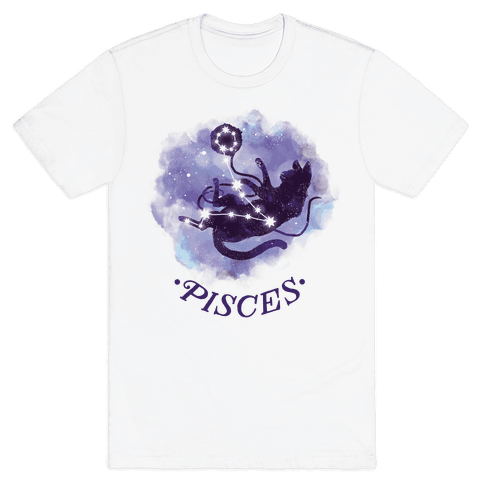 Cat Zodiac: Pisces Mens T-Shirt