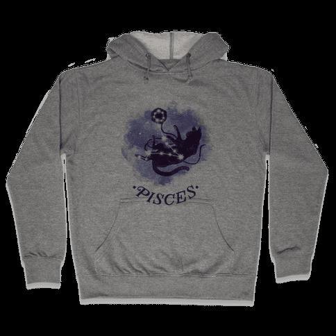 Cat Zodiac: Pisces Hooded Sweatshirt