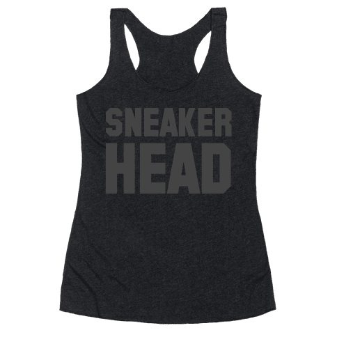 Sneaker Head Racerback Tank Top