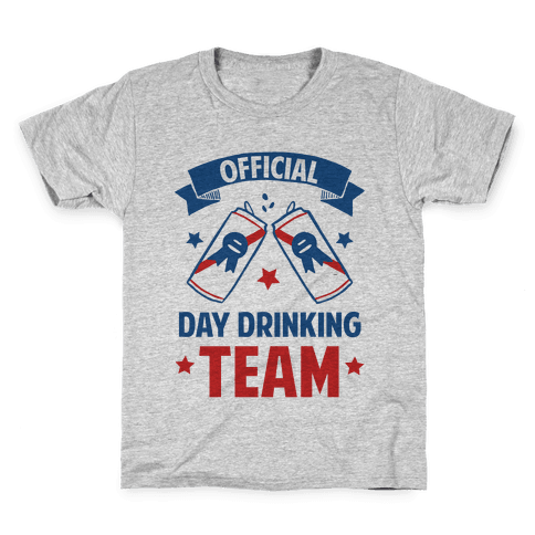 Official Day Drinking Team Kids T-Shirt