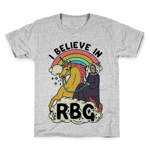 Ruth Bader Ginsburg on a Unicorn Kids T-Shirt