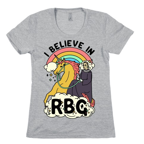Ruth Bader Ginsburg on a Unicorn Womens T-Shirt