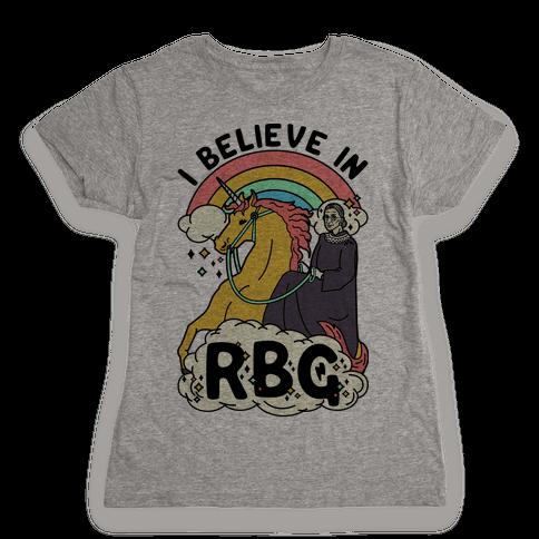 Ruth Bader Ginsburg on a Unicorn Womens T-Shirt