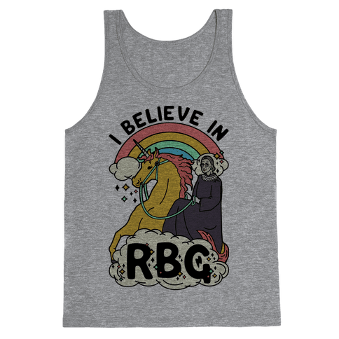 Ruth Bader Ginsburg on a Unicorn Tank Top