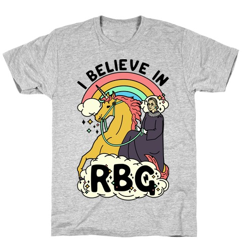 Ruth Bader Ginsburg on a Unicorn T-Shirt