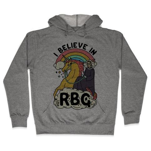 Ruth Bader Ginsburg on a Unicorn Hooded Sweatshirt