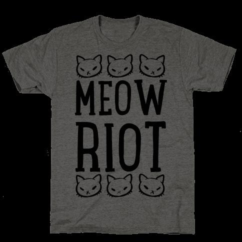 Meow Riot Mens T-Shirt