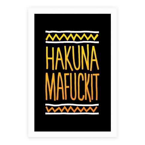 Hakuna MaF***it Poster