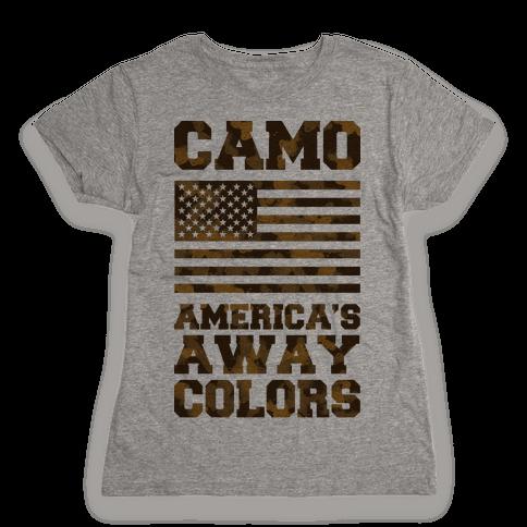 America's Away Colors Womens T-Shirt