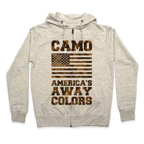 America's Away Colors Zip Hoodie
