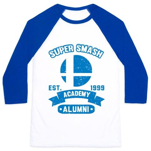 Super Smash Academy Alumni Baseball Tee