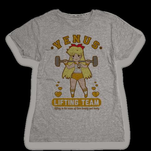Venus Lifting Team Parody Womens T-Shirt
