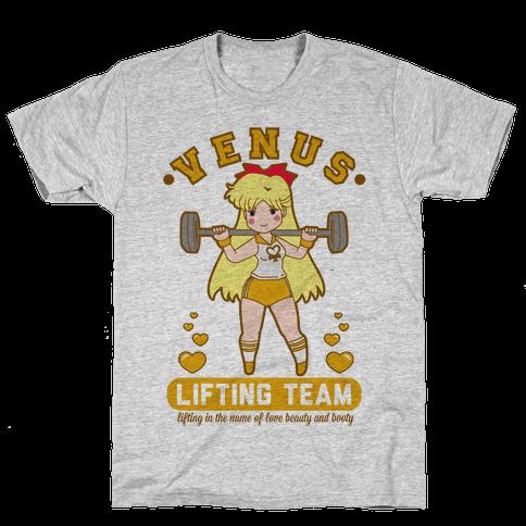 Venus Lifting Team Parody Mens T-Shirt