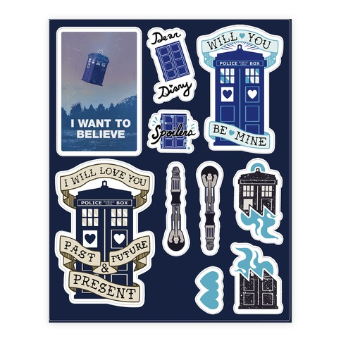 Doctor Who Tardis  Sticker and Decal Sheet