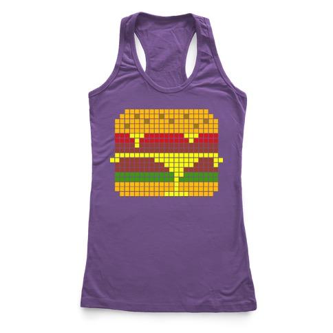 8-Bit Burger Racerback Tank Top