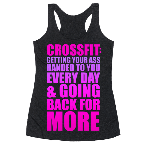 The Meaning of Crossfit Racerback Tank Top