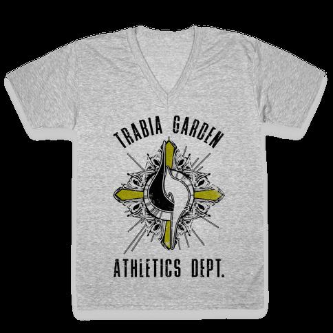 Trabia Garden Athletics Department V-Neck Tee Shirt