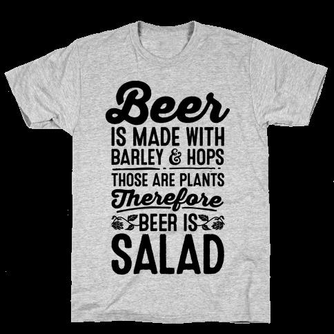 Beer is Salad Mens T-Shirt