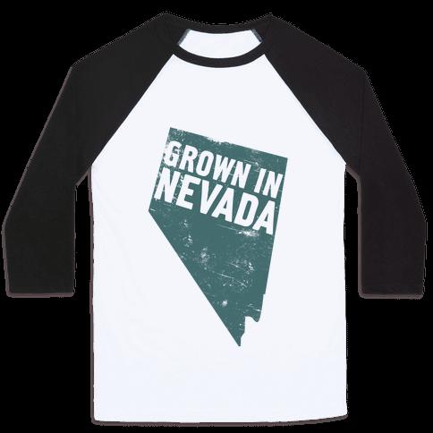 Grown in Nevada Baseball Tee
