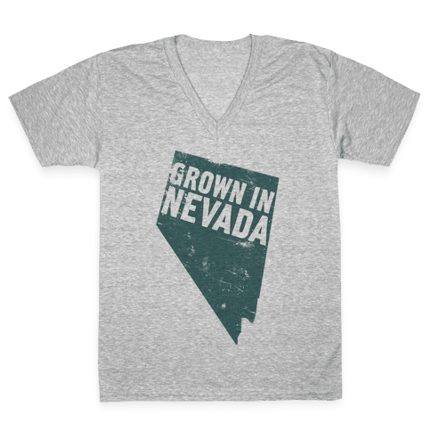 Grown in Nevada V-Neck Tee Shirt