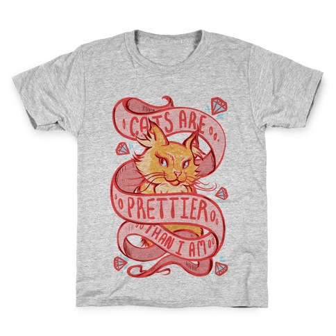 Cats are Prettier Than Me Kids T-Shirt