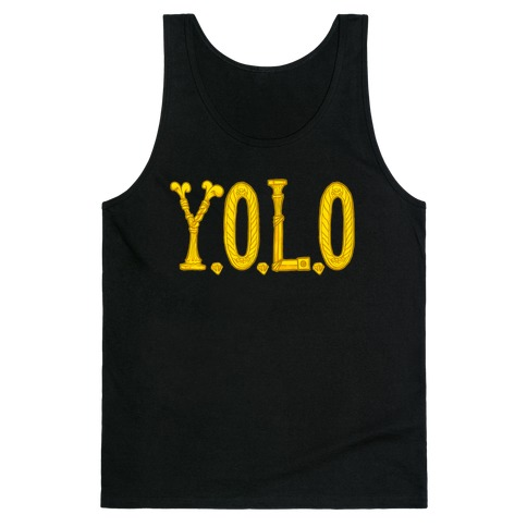 YOLO (golden) Tank Top