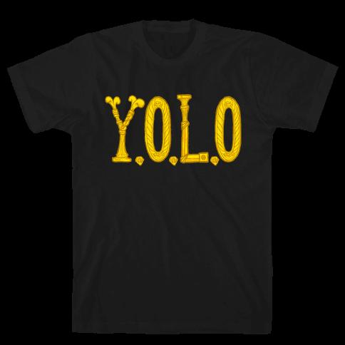 YOLO (golden) Mens T-Shirt