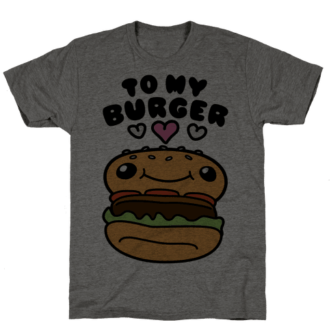 Pretzel Burger Pair Mens T-Shirt